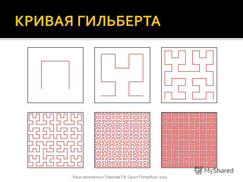 Кривая Пеано Язык математикиЛаврова Т.В. Санкт-Петербург. 2012