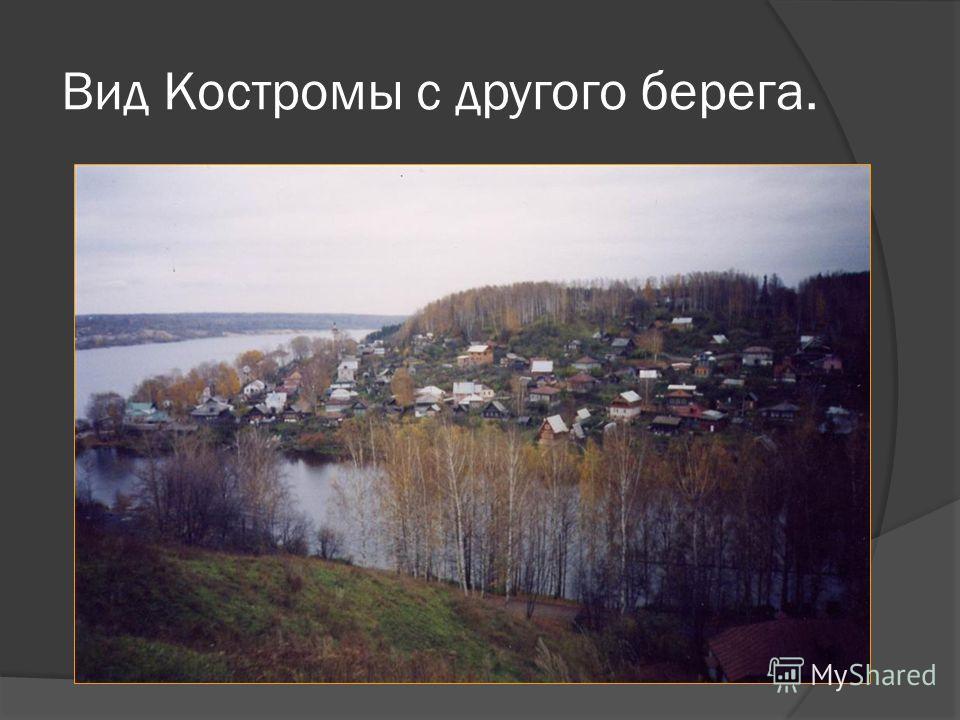 Вид Костромы с другого берега.