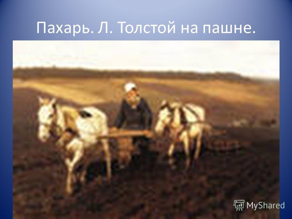 Пахарь. Л. Толстой на пашне.