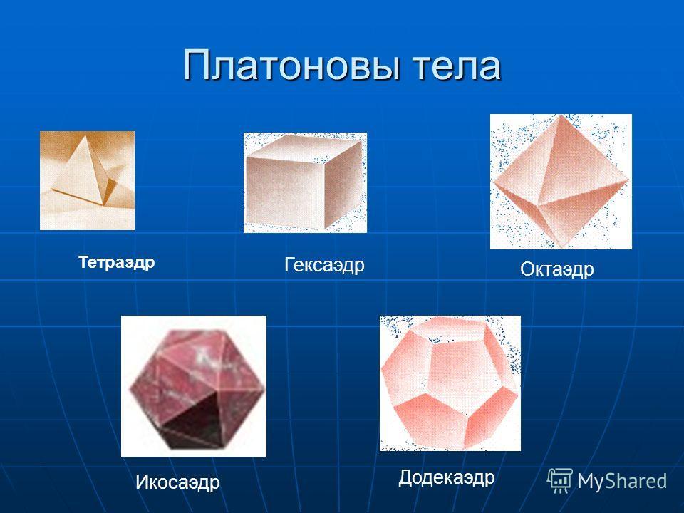 Платон около 429 – 347 гг до н.э. Платоновыми телами называются правильные однородные выпуклые многогранники, то есть выпуклые многогранники, все грани и углы которых равны, причем грани - правильные многоугольники. Платоновы тела - трехмерный аналог
