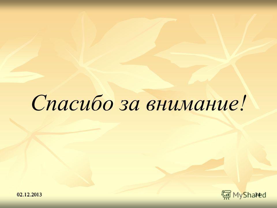 02.12.201334 Спасибо за внимание!