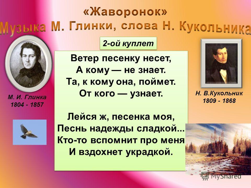 М. И. Глинка 1804 - 1857 Н. В.Кукольник 1809 - 1868 Дыхание прерывистое торопливое спокойное глубокое