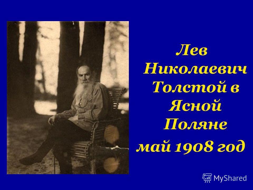 Лев Николаевич Толстой в Ясной Поляне май 1908 год