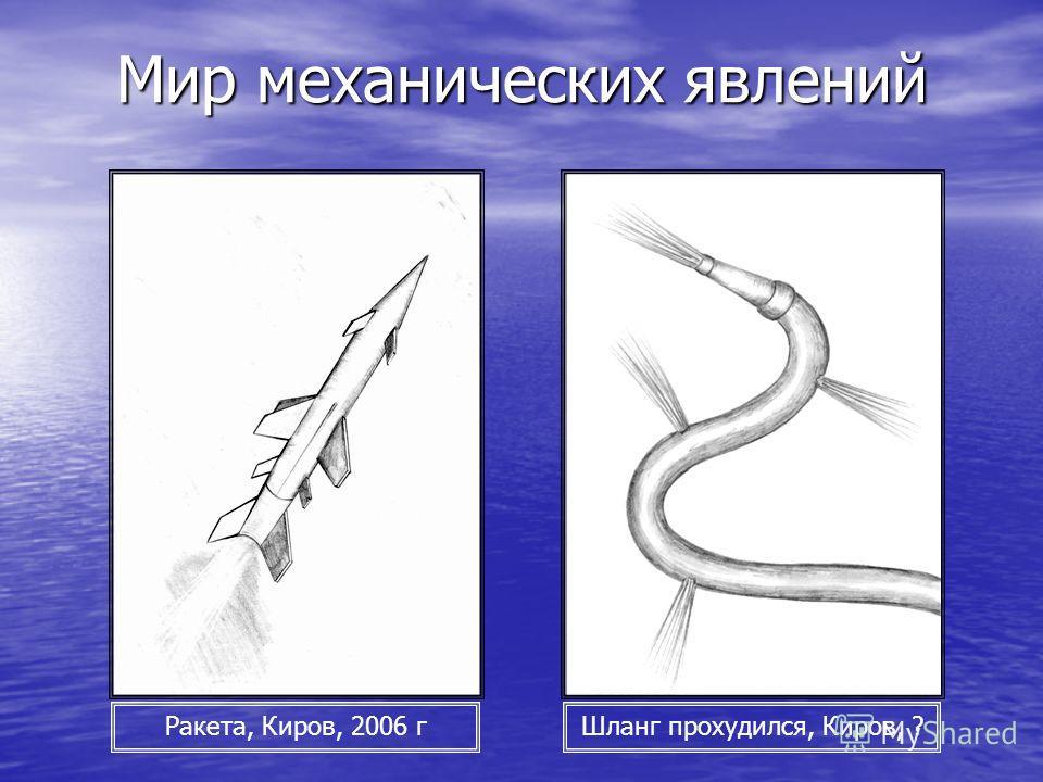 Мир механических явлений Ракета, Киров, 2006 гШланг прохудился, Киров, ?