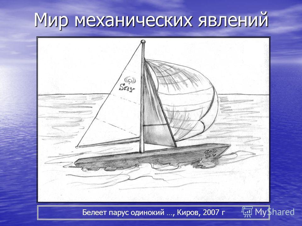 Мир механических явлений Белеет парус одинокий …, Киров, 2007 г