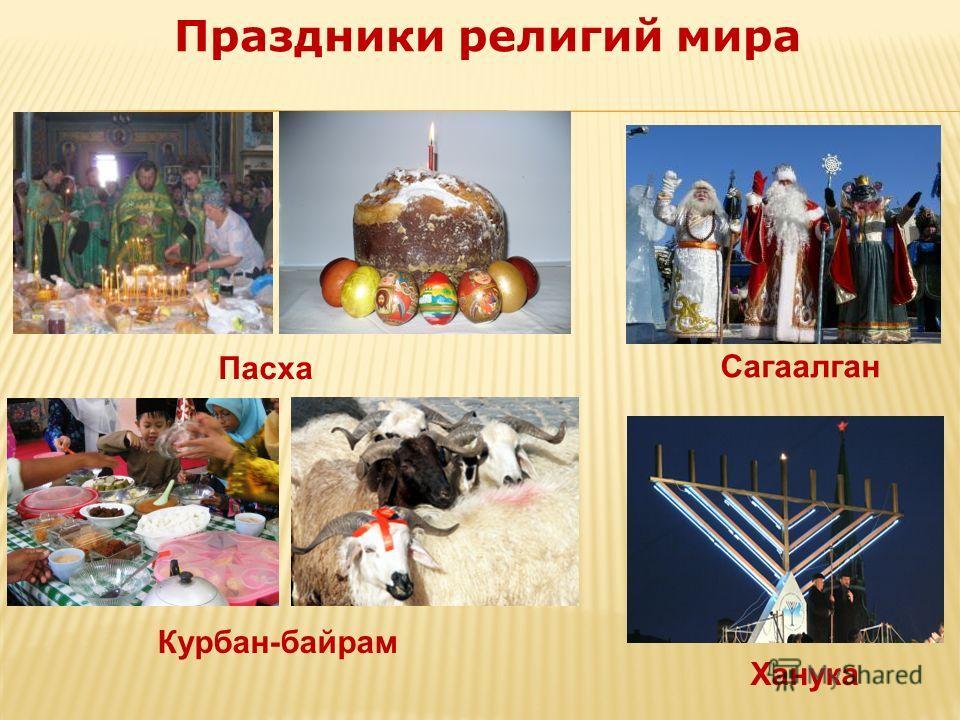 Пасха Курбан-байрам Ханука Сагаалган Праздники религий мира