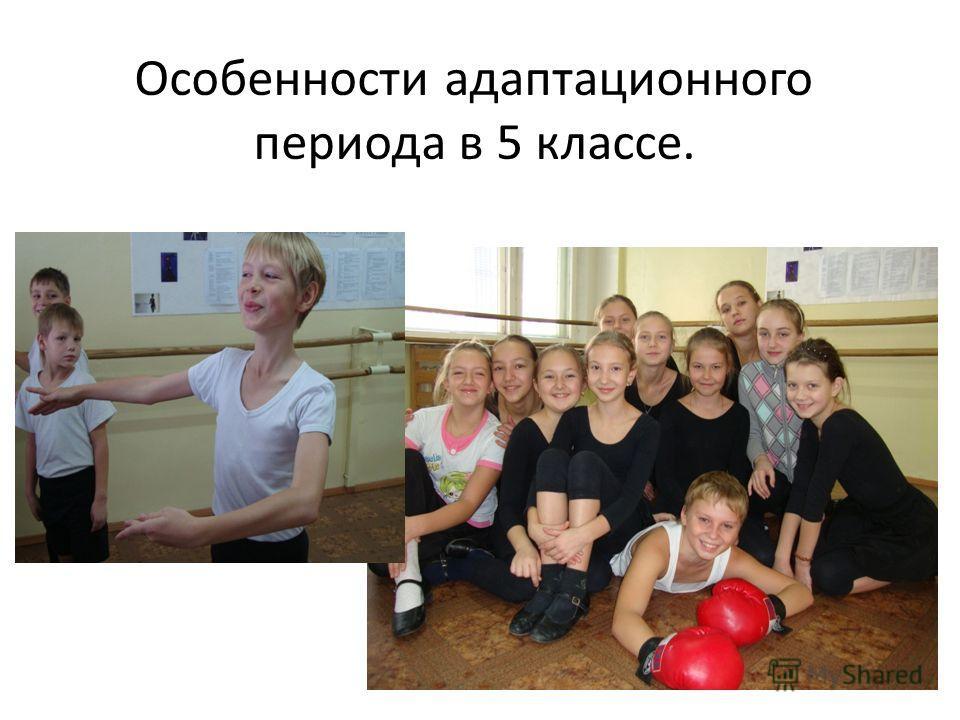 Особенности адаптационного периода в 5 классе.