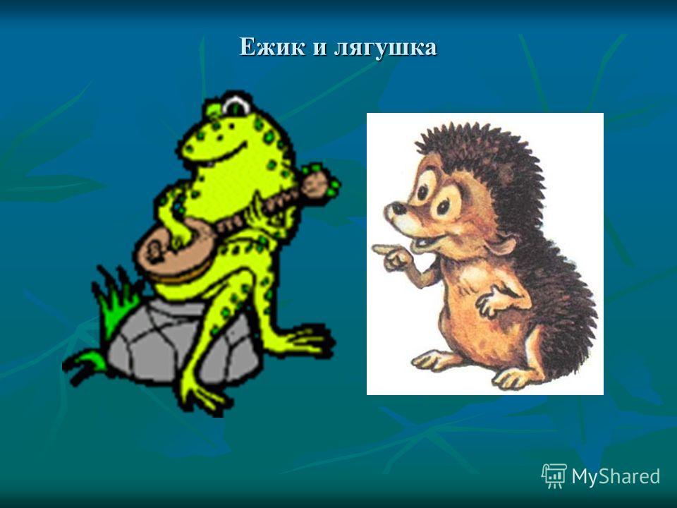Ежик и лягушка