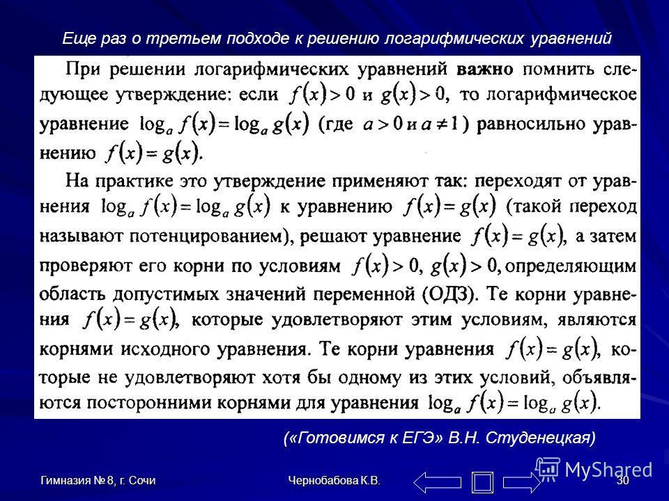 Гимназия 8, г. Сочи Чернобабова К.В. 29 А чем плох второй подход? Тем, что мы рискуем