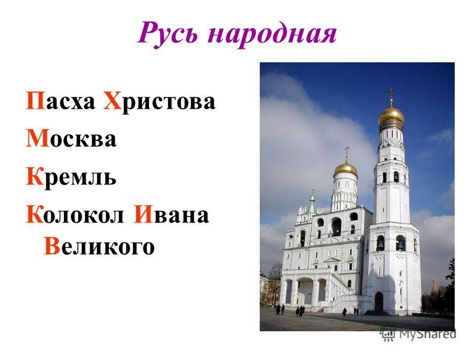 Русь народная Пасха Христова Москва Кремль Колокол Ивана Великого