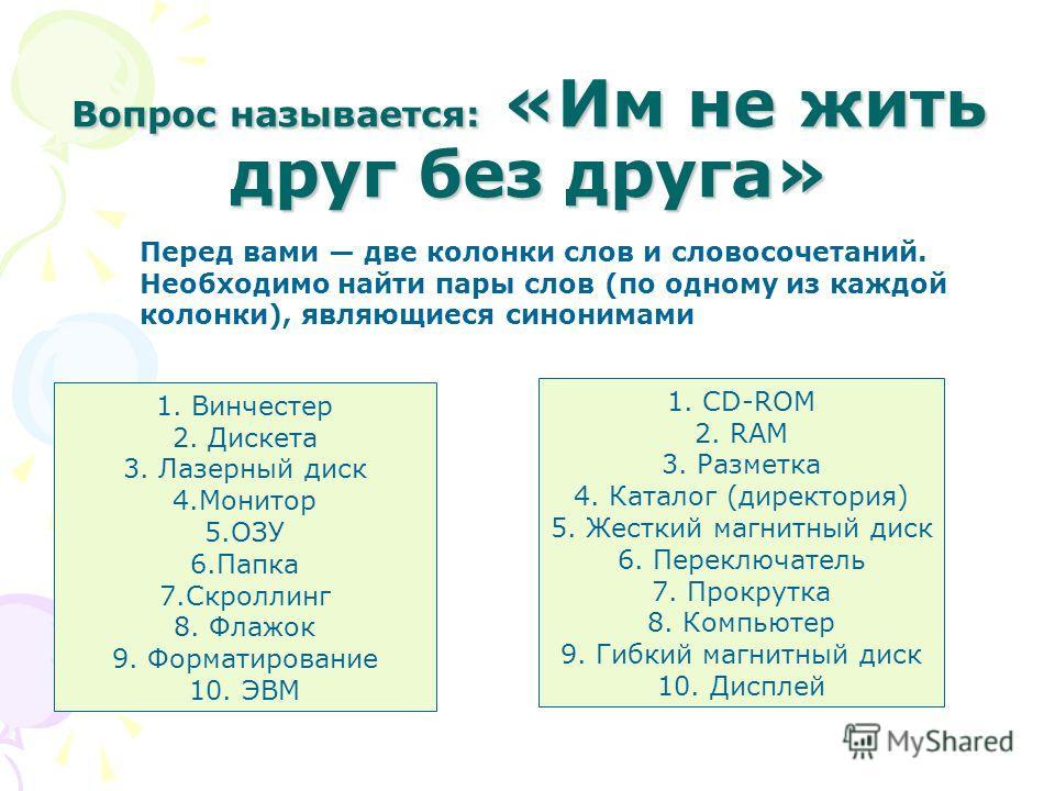Хронологический порядок появления носителей информации таков : 1. Перфокарта 2. Перфолента 3. Магнитная лента 4.Магнитный диск 5. Оптический диск CD-ROM