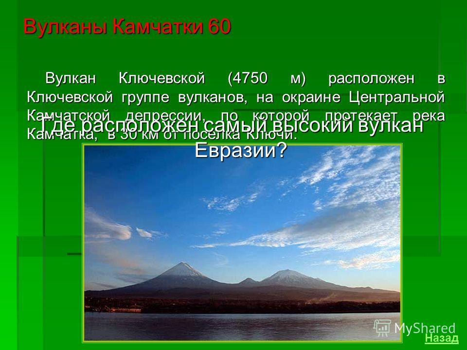 Назовите действующий вулкан Срединного хребта. Единственный действующий вулкан Срединного хребта - Ичинская сопка (3621м). Вулканы Камчатки 40 Назад