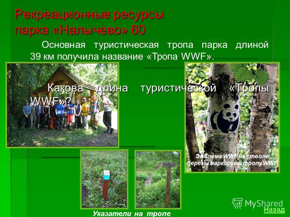 В 1996 году парк «Налычево» был включен в Список Всемирного наследия ЮНЕСКО, что свидетельствует о его мировом признании, как природного феномена. Пешеходные путешествия, путешествия с использованием вертолета, развитая сеть радиальных маршрутов, про