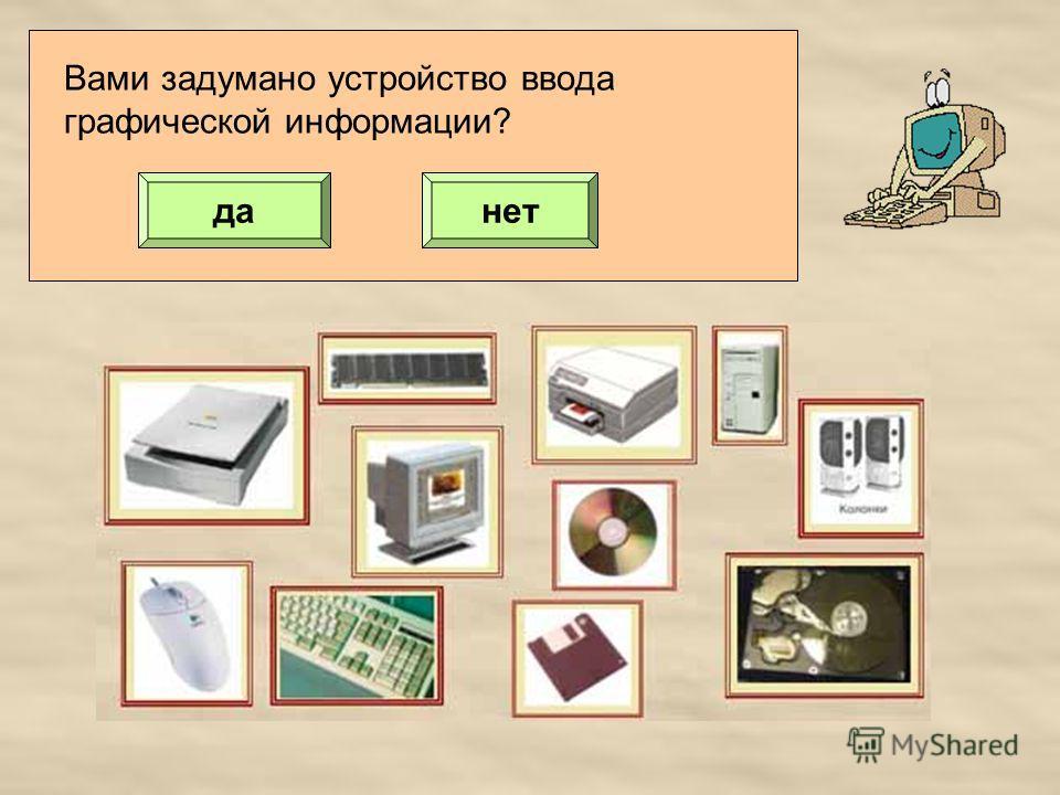 Вами задумано устройство ввода графической информации? данет