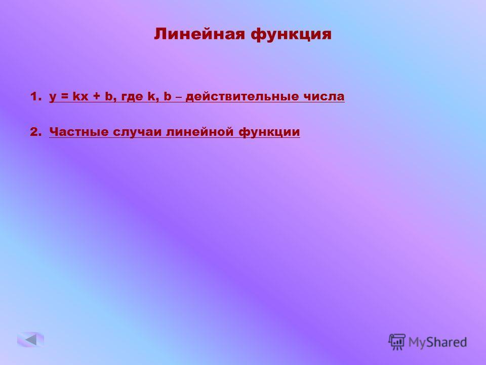 Графики элементарных функций школьного курса 1.ЛЛинейная функция 2.ККвадратичная функция 3.ССтепенная функция 4.ДДробно-линейная функция 5.ФФункция, где 6.ТТригонометрические функции 7.ООбратные тригонометрические функции 8.ППоказательная функция 9.Л