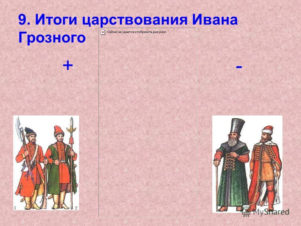 9. Итоги царствования Ивана Грозного + -