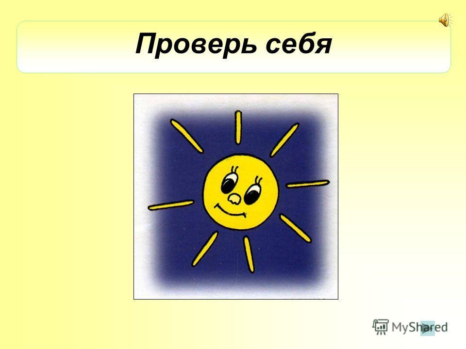 Проверь себя Солнце Неправильный ответ