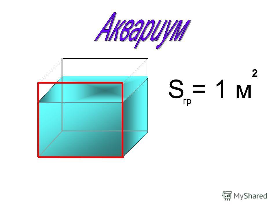 S = 1 м 2 гр