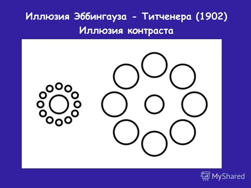 Иллюзия Эббингауза - Титченера (1902) Иллюзия контраста
