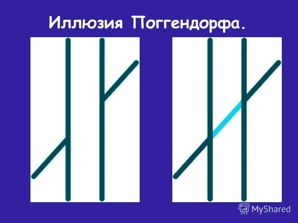 Иллюзия Поггендорфа.