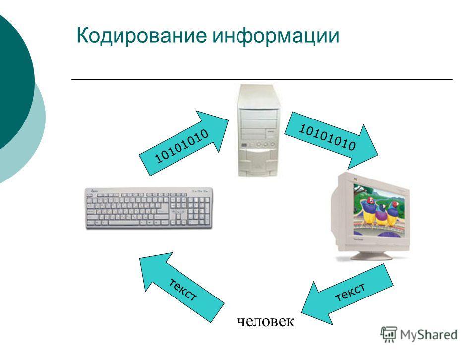 человек Кодирование информации 10101010 текст