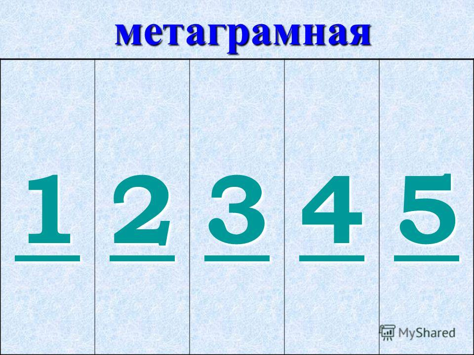 метаграмная 1111 2222 3333 4444 5555
