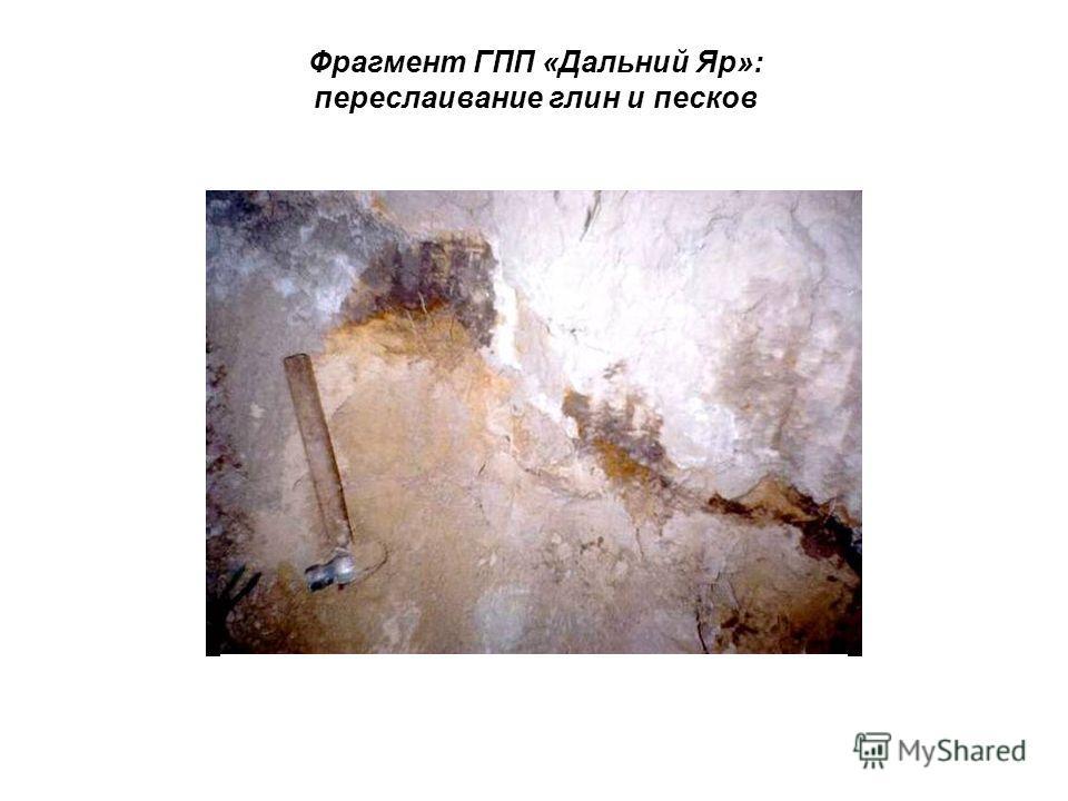 Фрагмент ГПП «Дальний Яр»: переслаивание глин и песков