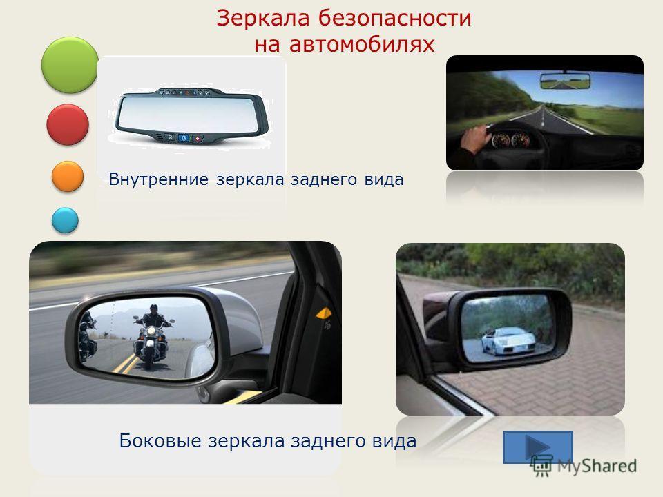 Зеркала безопасности на автомобилях Боковые зеркала заднего вида Внутренние зеркала заднего вида