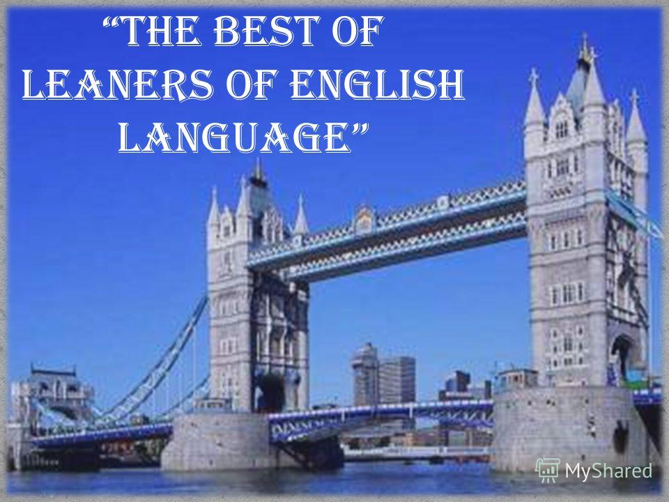 THE BEST OF LEANERS OF ENGLISH LANGUAGE