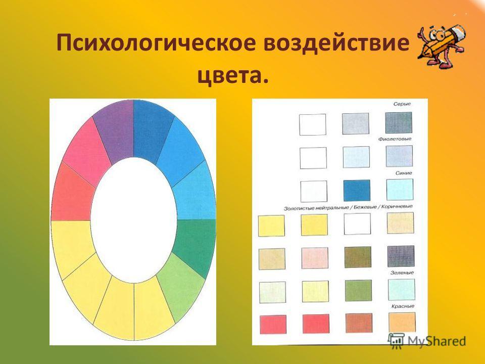 Психологическое воздействие цвета.