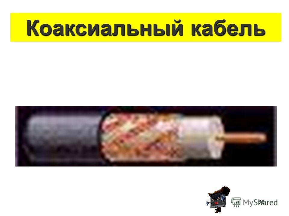 38 Коаксиальный кабель