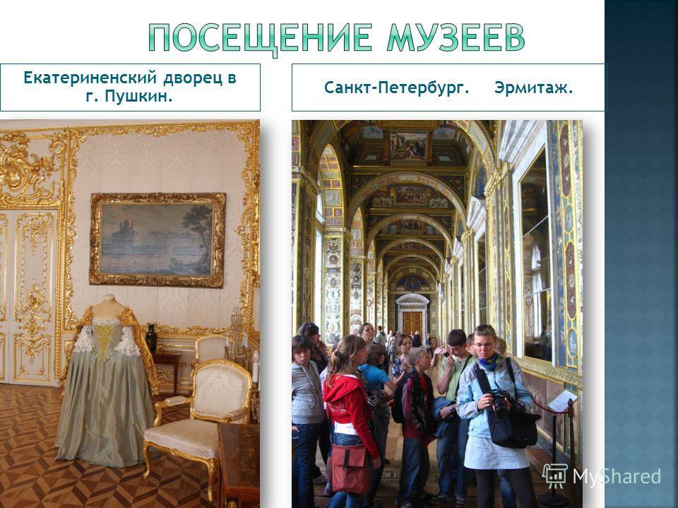 Екатериненский дворец в г. Пушкин. Санкт-Петербург. Эрмитаж.