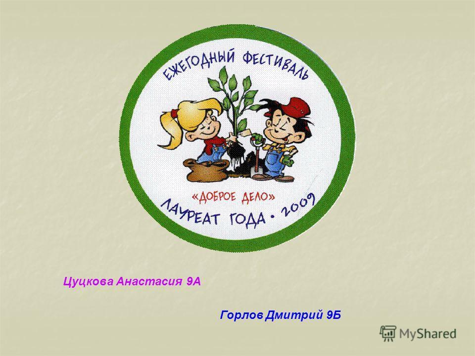 Горлов Дмитрий 9Б Цуцкова Анастасия 9А