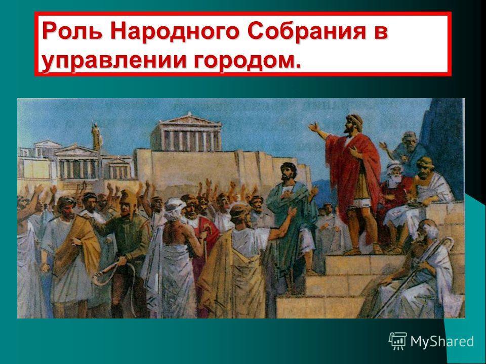 Роль Народного Собрания в управлении городом.