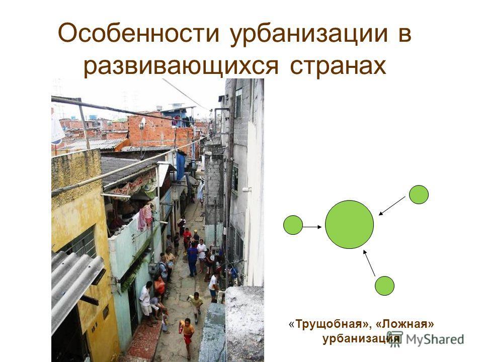 Особенности урбанизации в развивающихся странах «Трущобная», «Ложная» урбанизация