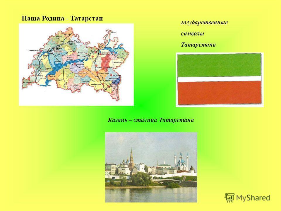 государственные символы Татарстана Казань – столица Татарстана Наша Родина - Татарстан