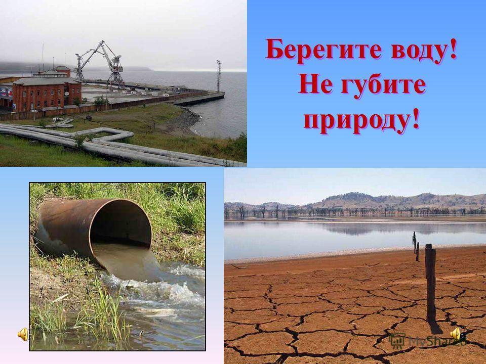 Берегите воду! Не губите природу!