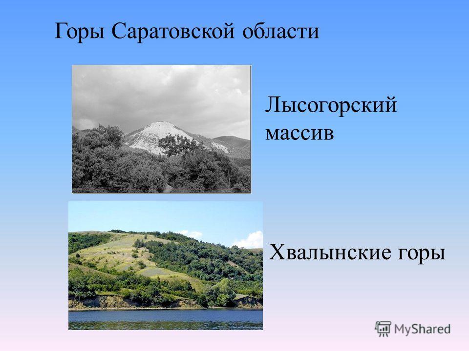 Хвалынские горы Лысогорский массив Горы Саратовской области