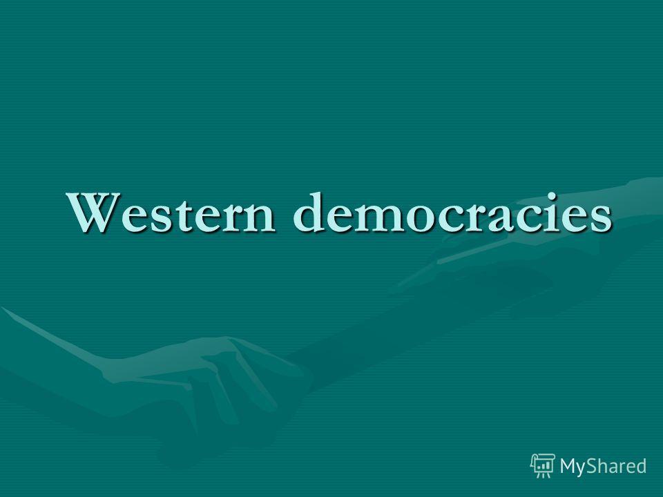 Western democracies Western democracies