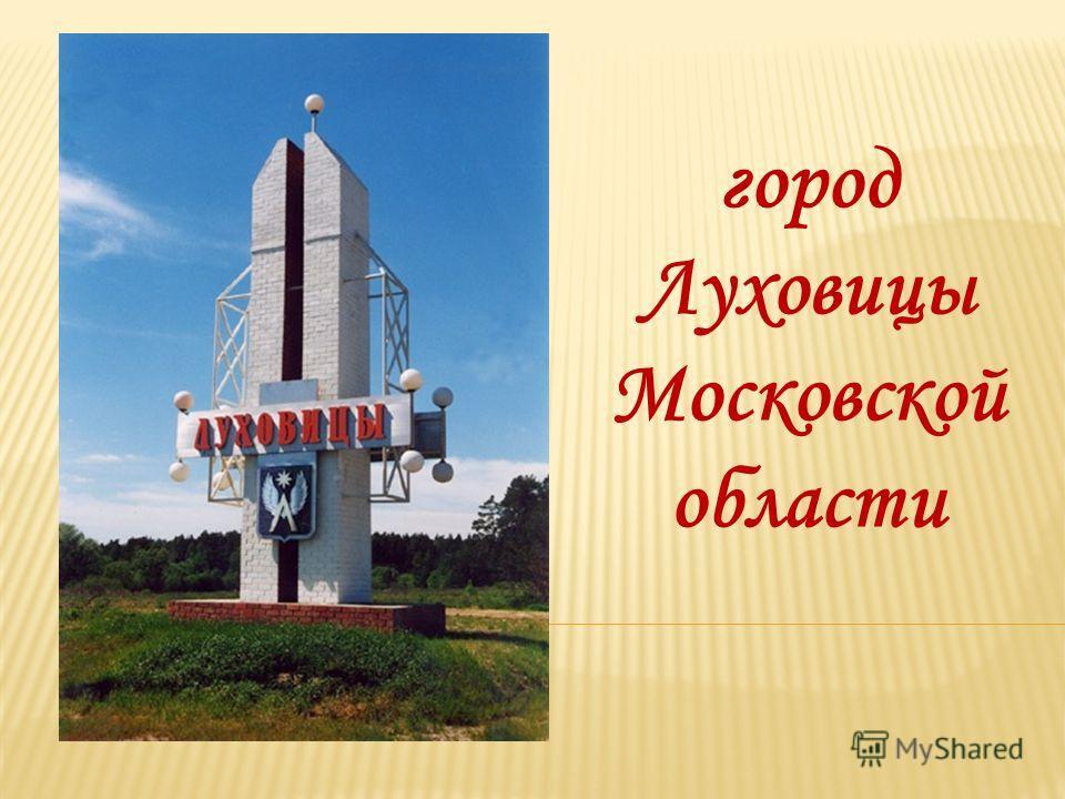 город Луховицы Московской области