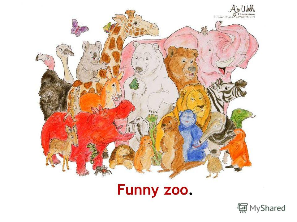 Funny zoo. Paint this picture.