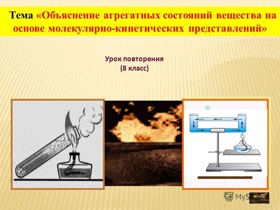 Урок повторения (8 класс) Тема «Объяснение агрегатных состояний вещества на основе молекулярно-кинетических представлений»