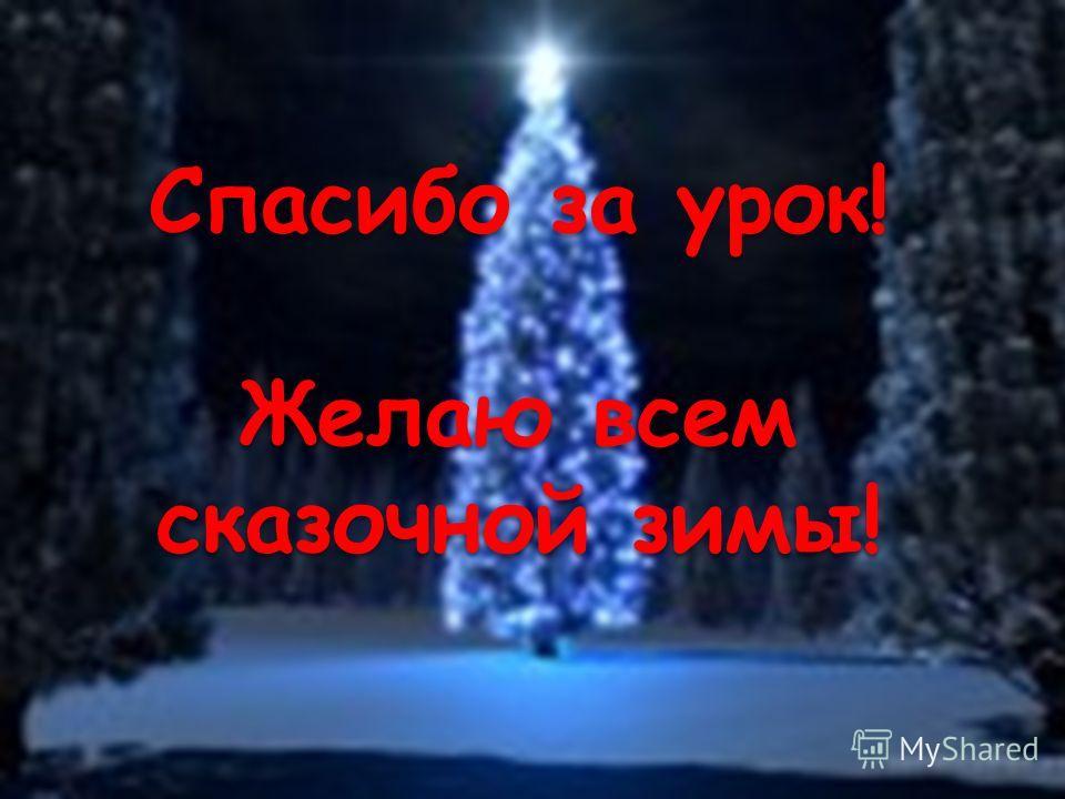 Спасибо за урок! Желаю всем сказочной зимы!