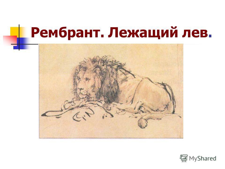 Рембрант. Лежащий лев.