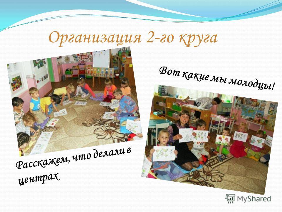 Организация 2-го круга Расскажем, что делали в центрах Вот какие мы молодцы!