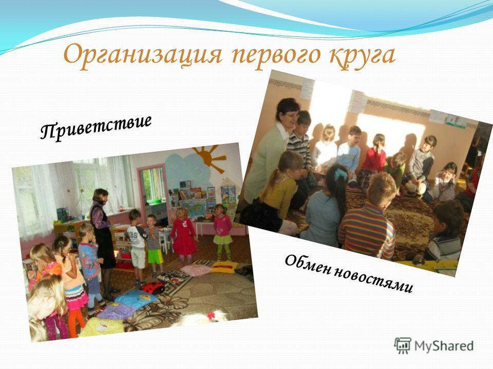 Организация первого круга Приветствие Обмен новостями
