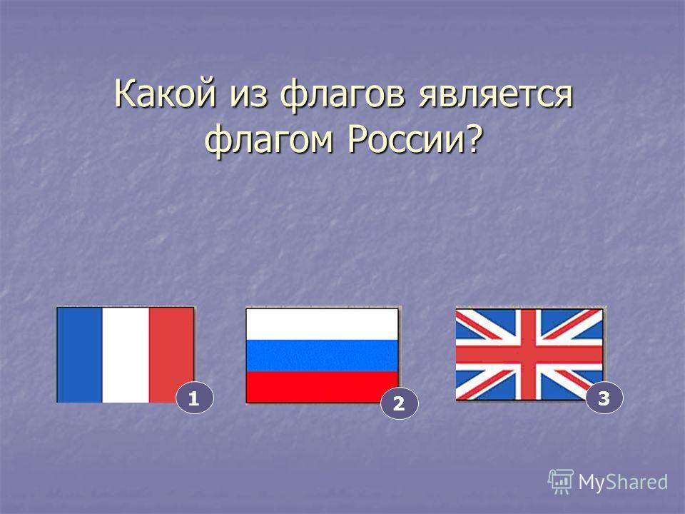 Какой из флагов является флагом России? 2 13
