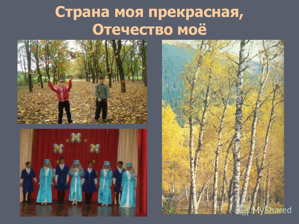Страна моя прекрасная, Отечество моё