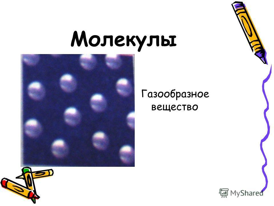 Молекулы Газообразное вещество
