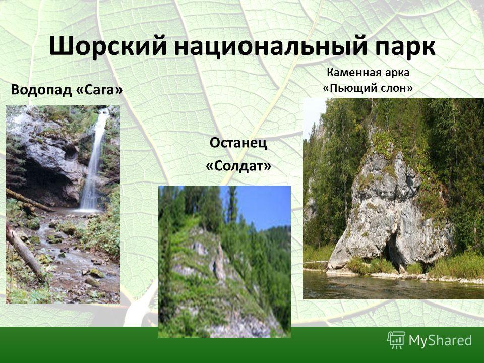 Шорский национальный парк Водопад «Сага» Каменная арка «Пьющий слон» Останец «Солдат»